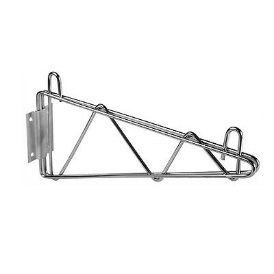 PrestoWare SB-18, 18-Inch Chrome Wire Single Wall Bracket, NSF