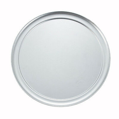 Winco APZT-14, 14-Inch Diameter Wide-Rimmed Aluminum Pizza Pan
