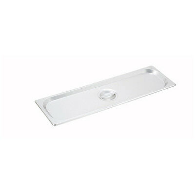 Winco SPJL-HCS, Solid Cover For Half-Long Steam Table Pan, NSF