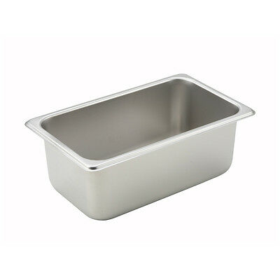 Winco SPQ4, 4-Inch Deep Quarter Size Steam Table Pan, NSF