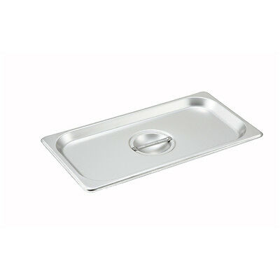 Winco SPSCT, One-Third Size Solid Stainless Steel Steam Table Pan Cover, NSF