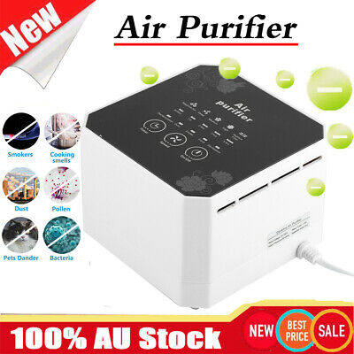 Portable Air Purifier Freshener Carbon HEPA Filter Ioniser odor cleaner 110-240V