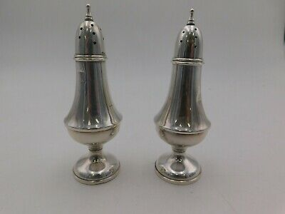 Alvin Antique Sterling Silver Marked Set of Salt and Pepper Shakers