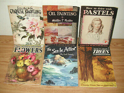 Lot Of 6 Walter T. Foster Instructional Drawing And Painting Paperback Books
