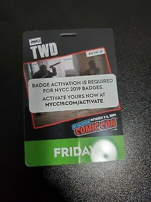 NYCC New York Comic Con 2019 Friday Pass Badge Ticket 10/4/2019 FULLY ACTIVATED!