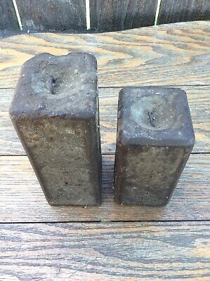 Antique Original 8 Day American Shelf Clock Weights