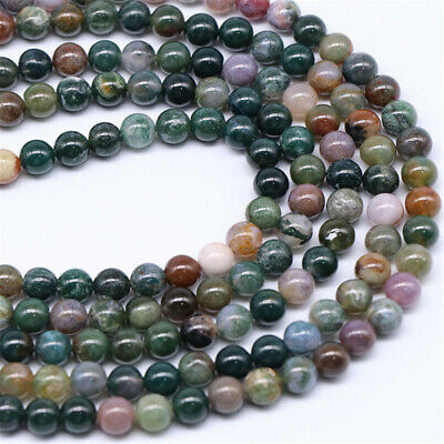 Natural India Agate Loose Beads Making Jewelry 15 inches Diy Gemstone Charm