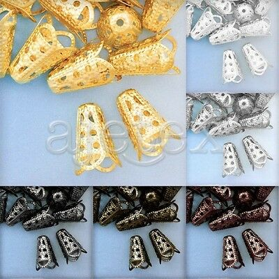 20g Metal Cone Spacer Beads End Caps Jewelry Accessory Finding 17x12mm