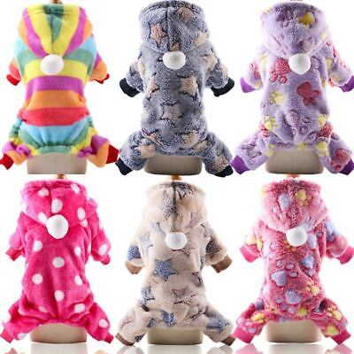 Dog Jumpsuit Winter Small Dog Soft Fleece Clothes Pet Puppy Coat Outfits Hoodie