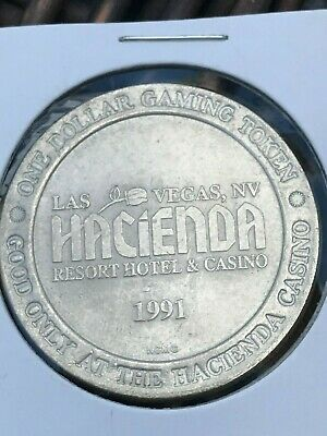 Vintage -- Hacienda  Casino -- Las Vegas Nevada  -- $1 Gaming Token  1991