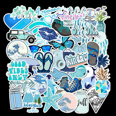 50PCS Vinyl Skateboard Stickers Guitar Travel Case Pack Funny Dope Sticker Decal