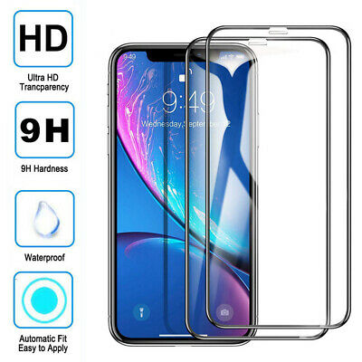 3Pack 9D Full Tempered Glass Screen Film Protector for iPhone 11 Pro Max X XS XR