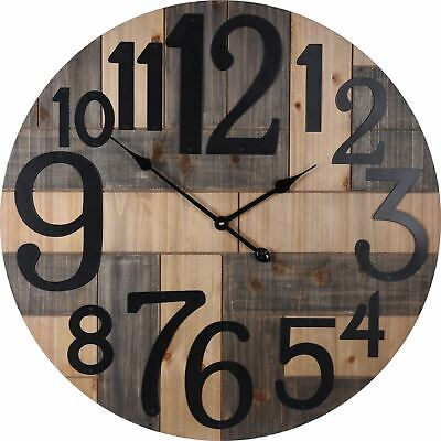 Fabulous Extra Large Wall Clock Wooden Wall Mounted Clock ~ 70cm