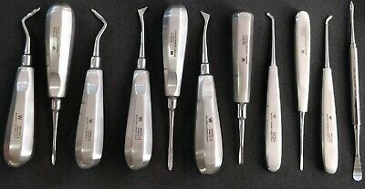 Dental Elevator Kit Surgical Root Elevators Kit Tooth Extraction Tools Set Of 11