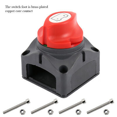 New Battery Isolator Switch Cut Off Disconnect Power Kill 600A Key Car Van Boat