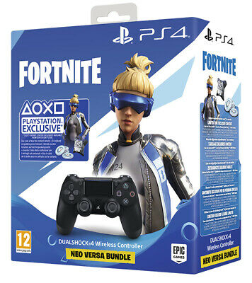 Sony PS4 Playstation 4 Controller DS4 Dualshock 4 V2 Black + Fortnite Voucher