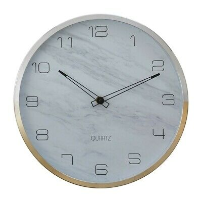 Elko Wall Clock With Silver Gold Frame Metallic Vintage Elegance To Interiors