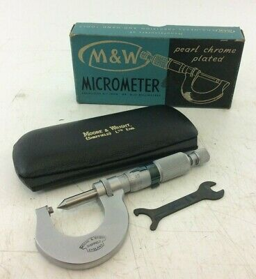 Moore & Wright External Thread Micrometer | 0-25mm Capacity | No. 675 0.4-0.6mm