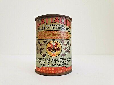 BLATTACIDE killer of cockroaches tin,Sold by Chemists & Grocery store, mortein