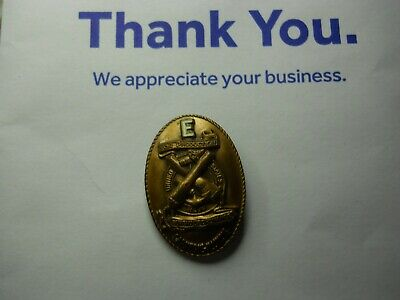 WWII US Navy Carnegie Illinois E Production Award War Worker Pin Vintage FREE SH