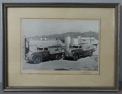 Photography Chevron Trucks Standard Oil Company British Columbia Limited 1952