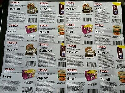 There are 16 genuine coupons vouchers worth £16.60 to be used in Tesco,