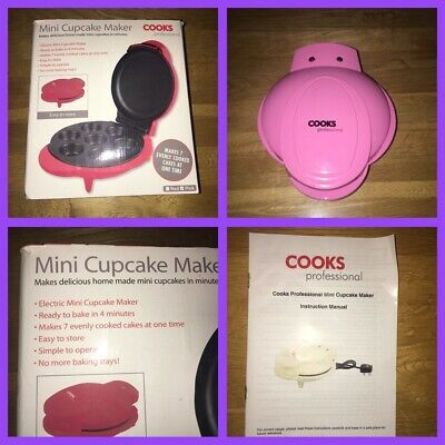 cooks professional mini pink cupcake maker with box & Instructions