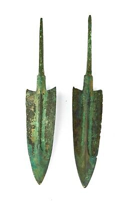 *SC*VERY NICE PAIR OF ANCIENT NEAR EAST BRONZE JAVELINS / SPEAR POINT, 2nd mill