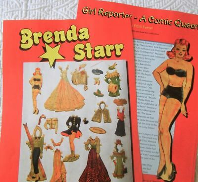 14p History Article + Color Pics - VTG Brenda Starr Paper Dolls & Fashion Dolls