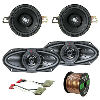 "Kenwood 3.5"" 40W Speakers, Kenwood 4x10"" 160W Speakers, GM 83-UP Harness, Wiring"