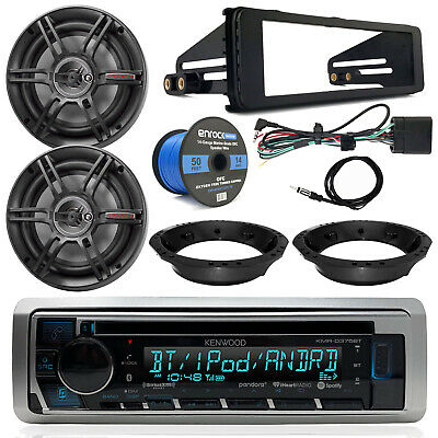 "98-13 FL Touring Kenwood CD Receiver, 6.5"" Crunch Speakers, 14G Wire, Dash Kit"