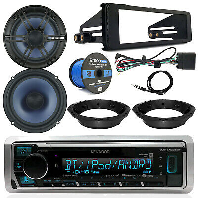 Kenwood Receiver, Enrock Speakers, Speaker Wire, 98-13 Harley Touring Dash Kit