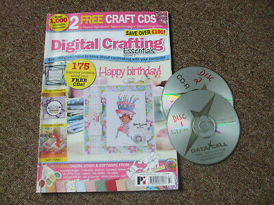 Digital Crafting Essentials magazine and two cds.