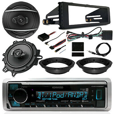 98-13 FLHT Harley Kenwood Receiver, Pioneer Speakers, Thumb Controls, Dash Kit
