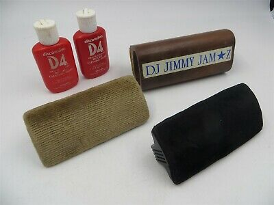 Vintage Lot of Stanton LP Vinyl Disc Cleaner Brushes and Discwasher Liquids