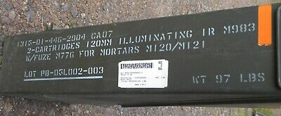 """120MM MILITARY AMMO MORTAR CAN Top Loading Secure Dry Storage 32x11x6"""""""
