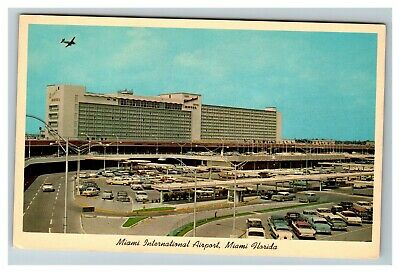 Miami International Airport, Miami FL (MIA) c1960 Cars Hotel Postcard E19