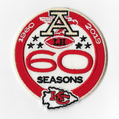 Kansas City Chiefs 60th Seasons Iron on Patches Embroidered Patch 1960 Badge FN