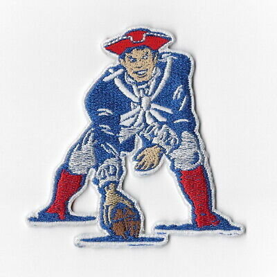 New England Patriots 1971-1992 Iron on Patches Embroidered Vintage Patch Sew FN