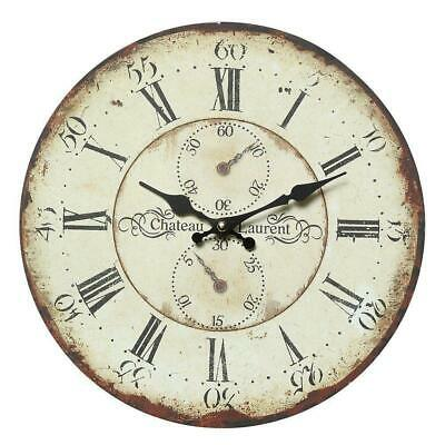 Wall Clock, Gammlige Country House Clock with Intentional Signs of Usage 28 CM