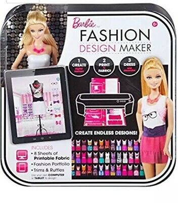 New Barbie Fashion Design Maker Doll Clothes Accessories Play Set Toys Dress