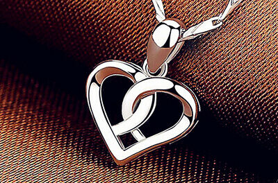 Rose Gold Mom Heart Pendant 925 Sterling Silver Chain Necklace Womens Jewellery