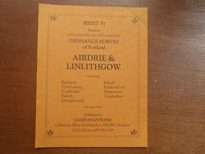 Old Ordnance Survey Map (reprint)  -  AIRDIE & LINLITHGOW. 1st edn one-inch map