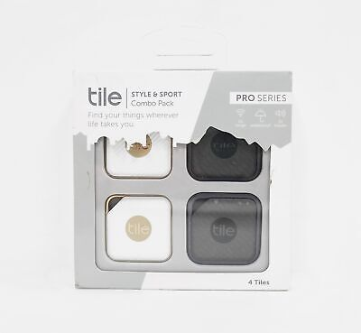 Tile RT-14004 Pro Series Sport and Style Smart Trackers - Graphite/Gold