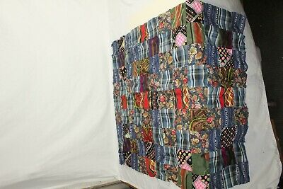 "Quilt Top Starter Attic Find 42"" x 31"" Multi Color"