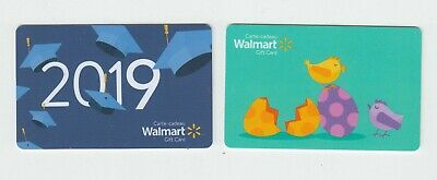 2 diff Walmart Canada 2019 gift cards EASTER NO VALUE