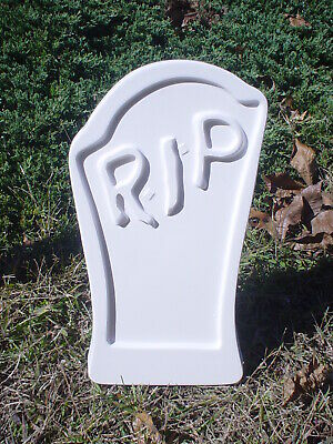 Curved RIP Tombstone Mold Concrete Halloween - Reusable Halloween Prop Cemetery