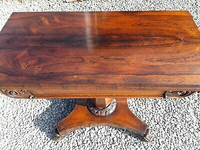 Antique Victorian Rosewood Card / Games / Side Table