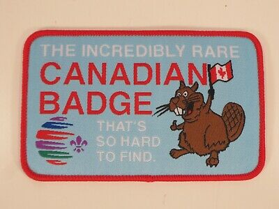 "24th World Scout Jamboree 2019 "" THE INCREDIBLY RARE CANADIAN BADGE "" Boy Scouts"