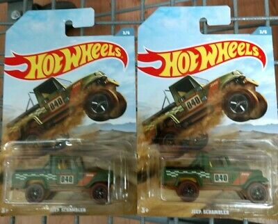 Brand NEW HOT WHEELS JEEP SCRAMBLER 2019 OFF ROAD TRUCK SERIES RARE Lot of 2 Car
